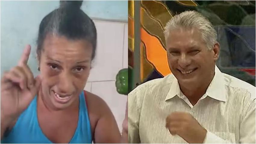 """Cubana arremete contra Díaz-Canel: """"Hasta cuando el hambre"""""""