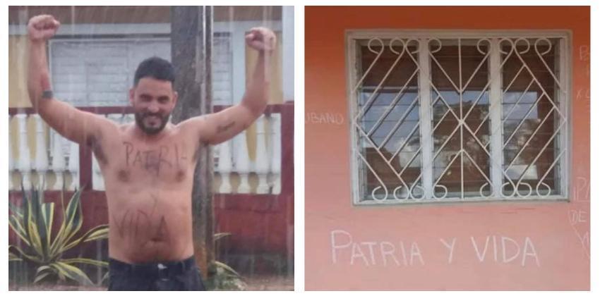 """Detienen dos veces en menos de 24 horas a ex marino mercante Omar Torres, que escribió """"Patria y Vida"""" en la fachada de su casa"""
