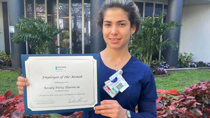 Una cubana de Miami reconocida como enfermera del mes en el Hialeah Hospital