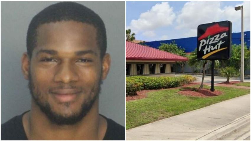 Arrestan a ex jugador de los Miami Dolphins tras un ataque de ira molesto por el servicio de Pizza Hut