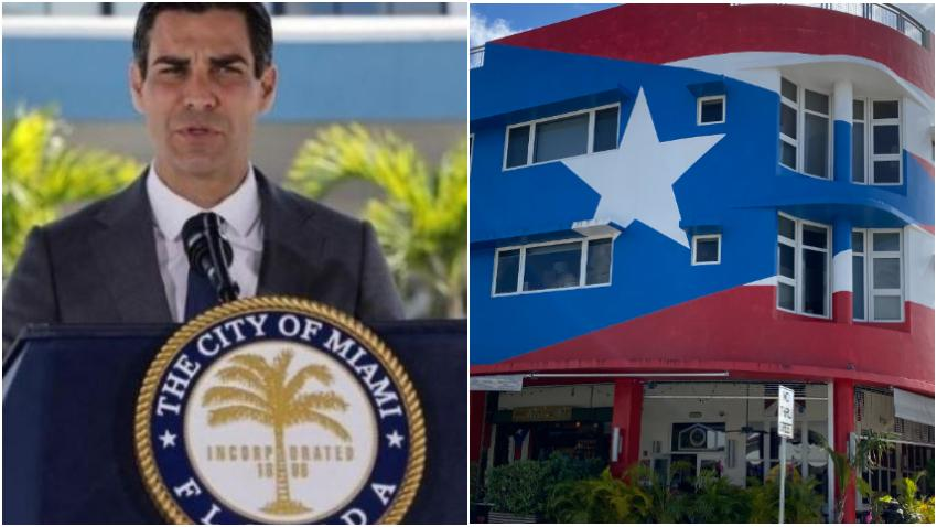 Alcalde de Miami Francis Suárez apoya dejar el mural de la bandera de Puerto Rico en La Placita