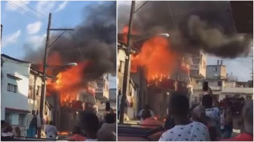 Fuerte incendio deja sin hogar a una familia en La Habana