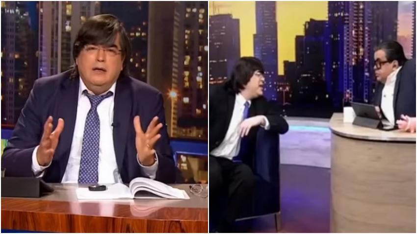 """Jaime Bayly regaña a su imitador en el programa de Carlucho por chiste """"vulgar"""""""