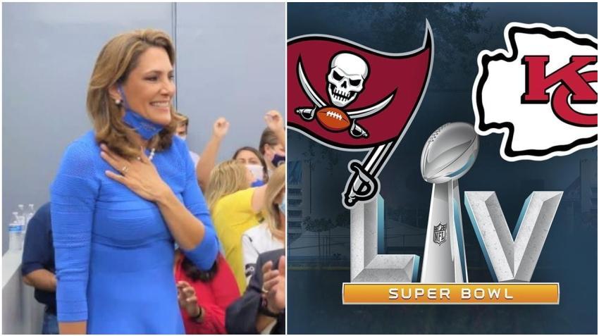 Congresista cubanoamericana María Elvira Salazar va con Tampa Bay en la final del Super Bowl
