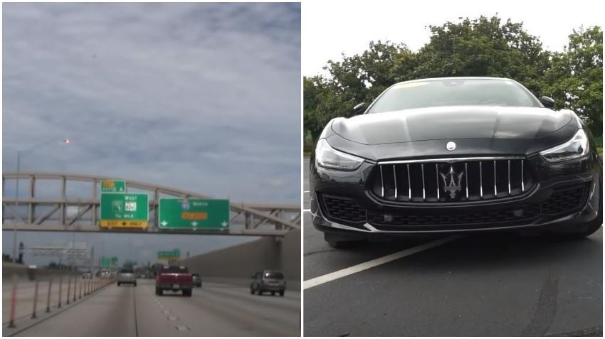 Policía busca a ocupantes de un Maserati tras accidente en la I-95 en Miami