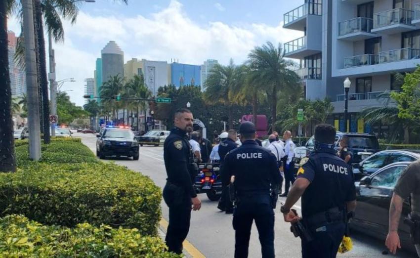Cierran Washington Avenue en Miami Beach por persecución policial de un auto robado