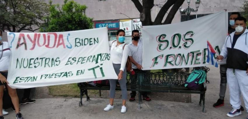 Cubanos en ciudad fronteriza de México dicen tener toda su esperanza puesta en Biden para ingresar a EEUU