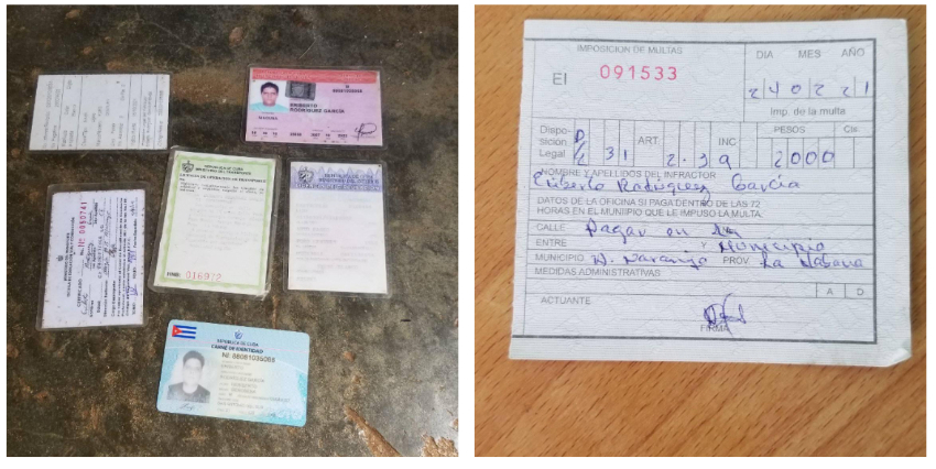 Transportista privado multado con 2.000 pesos en La Habana, porque al policía le dio la gana