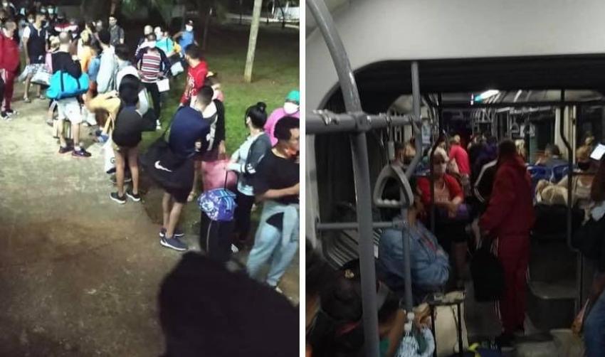 Cuba: Trasladan a pacientes de Covid-19 en horas de la madrugada
