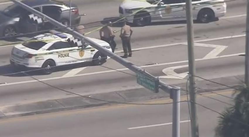 Tiroteo en una calle muy transitada bloquea el tráfico en el suroeste de Miami-Dade