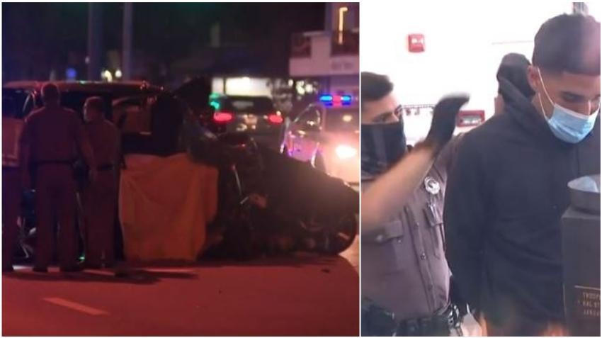 Se entrega a las autoridades adolescente que conducía vehículo involucrado en accidente de Año Nuevo en Miami donde murieron 4 jóvenes