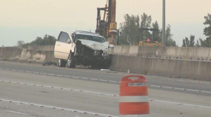Accidente en sentido contrario en el Turnpike en el Doral envía a 2 personas al hospital; causa demoras