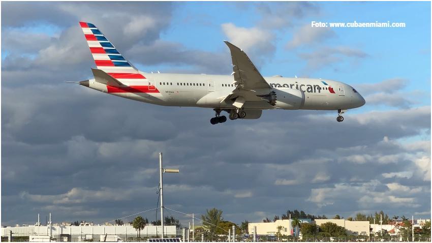 American Airlines mantendrá un vuelo semanal  desde Miami a Cuba durante el mes de mayo