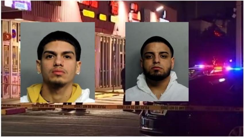 Tras las rejas dos acusados de asesinar a un joven en un estacionamiento en Hialeah tras una pelea