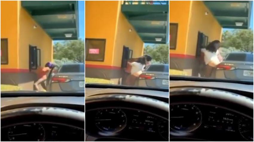 Captan en cámara a cuatro mujeres golpeando y robando a empleados de un restaurante Popeyes en el Sur de la Florida