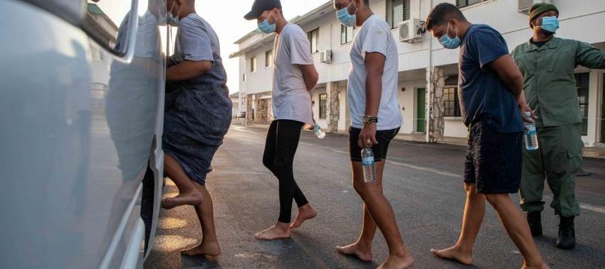 Autoridades en Bahamas publican imágenes de los balseros cubanos rescatados en el mar