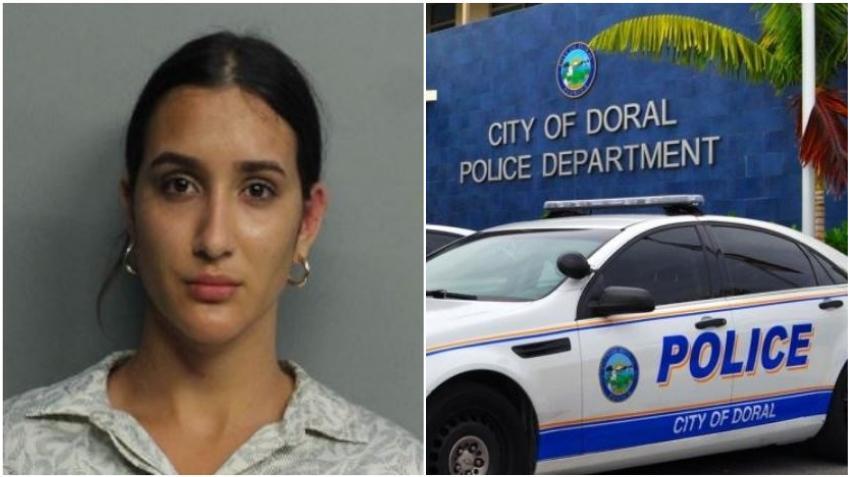 Una joven ataca a guardia de seguridad y muerde a oficiales de la policía en centro comercial del Doral