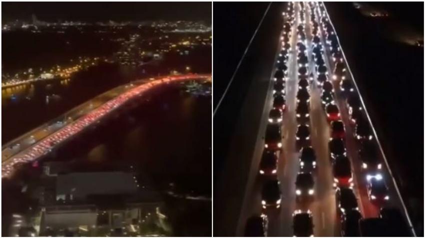 Personas se quejan de larga espera en sus carros, otras tienen que caminar para llegar a Miami Beach tras cierre de vías por toque de queda