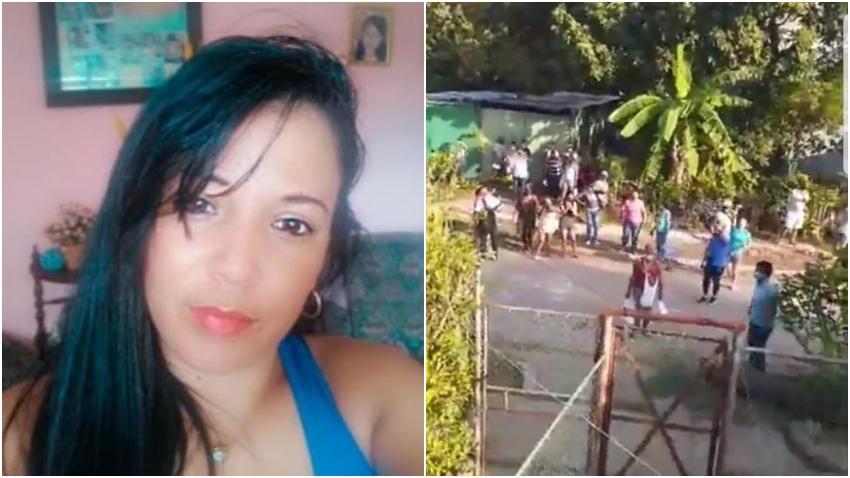 Le hacen acto de repudio en Cuba a una ex fiscal cubana por pintar Patria y Vida en la puerta de su casa