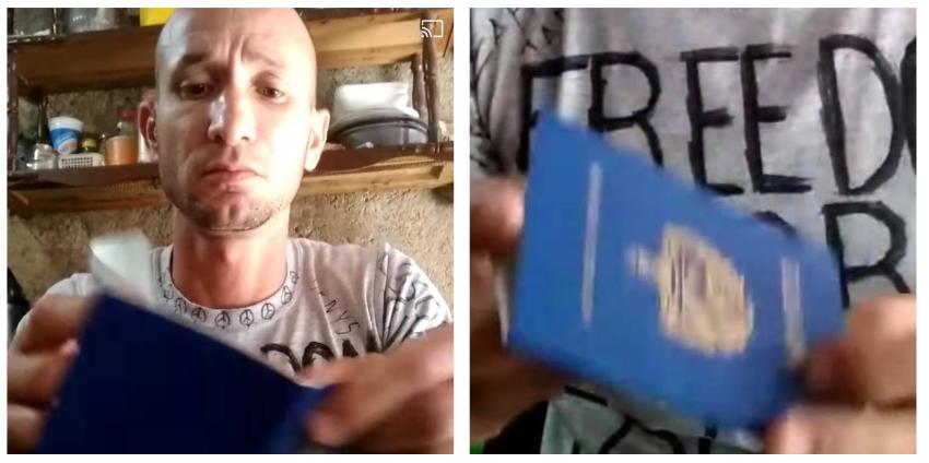 """Cubano envía mensaje al régimen en lo que rompe su pasaporte: """"Ustedes son los que se van a ir"""""""