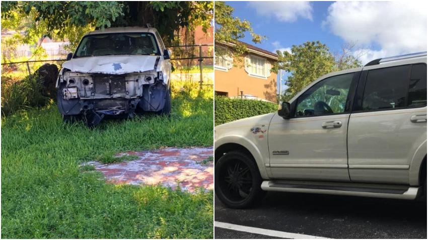 Cubano recién llegado a Miami convierte un carro que iba ser vendido como chatarra en uno como nuevo