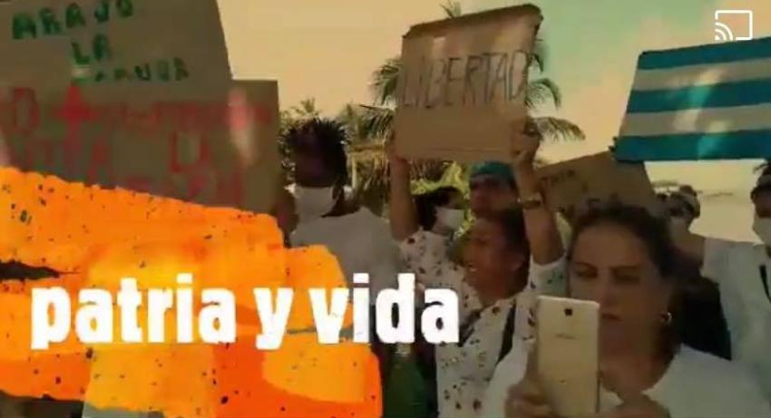 """Cubanos en Guyana se manifiestan en apoyo al mensaje """"Patria y Vida"""", y en solidaridad con la UNPACU"""