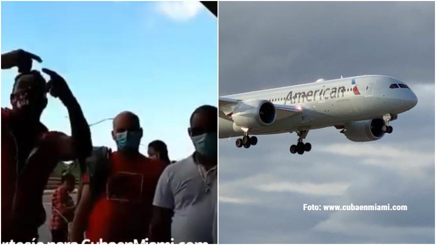 Cubanos protestan en el Aeropuerto de La Habana por las fechas de los pasajes de American Airlines rumbo a Miami