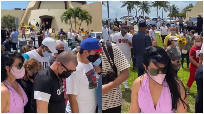 Familias cubanas en Miami se reúnen en la Ermita de la Caridad para orar por la reunificación familiar