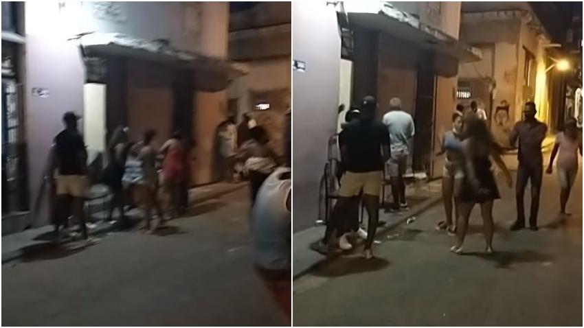 Cubanos cantan a viva voz Patria y Vida en barrio de La Habana