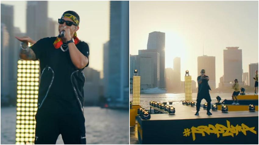 Con espectaculares vistas de Miami de fondo el reguetonero Daddy Yankee canta en vivo su éxito Problema