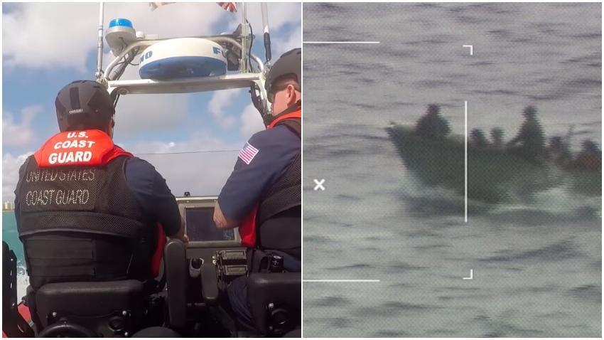 Guardia Costera de Estados Unidos repatria a 9 balseros cubanos capturados cerca de Cayo Marathon en la Florida