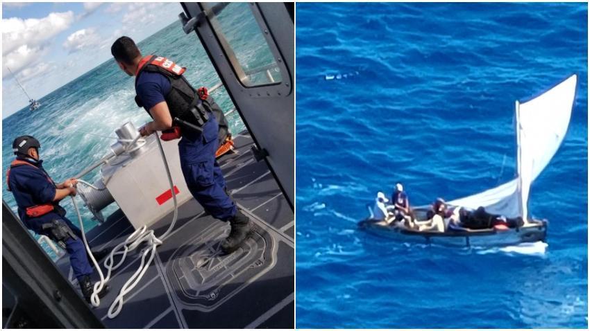 Guardia Costera de Estados Unidos intercepta a 12 balseros cubanos cerca de Bahamas