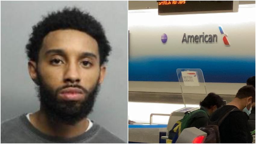 Un hombre causa un caos en el Aeropuerto Internacional de Miami golpeando a un empleado de American Airlines