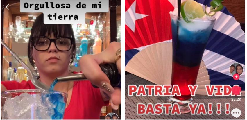 """Cubana crea cóctel """"Patria y Vida"""" con los colores de la bandera"""