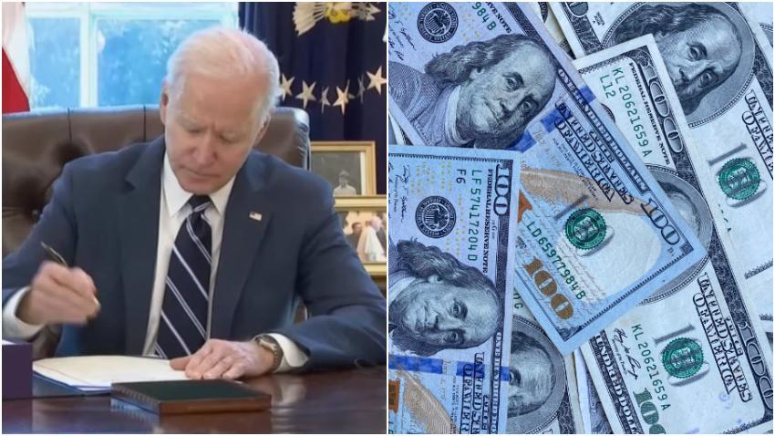 Presidente Biden firma ley de estímulo por 1.9 billones de dólares que incluye cheque de $1400 dólares