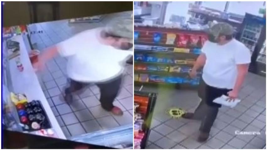 En cámara un hombre roba la jarra de propina de una gasolinera en Hialeah