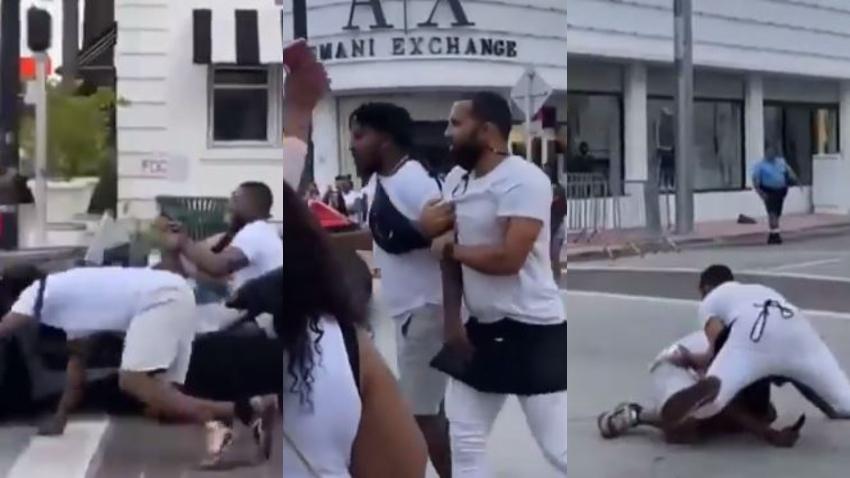 Meseros de restaurante en Miami Beach persiguen y atrapan a turista que se escapaba sin pagar