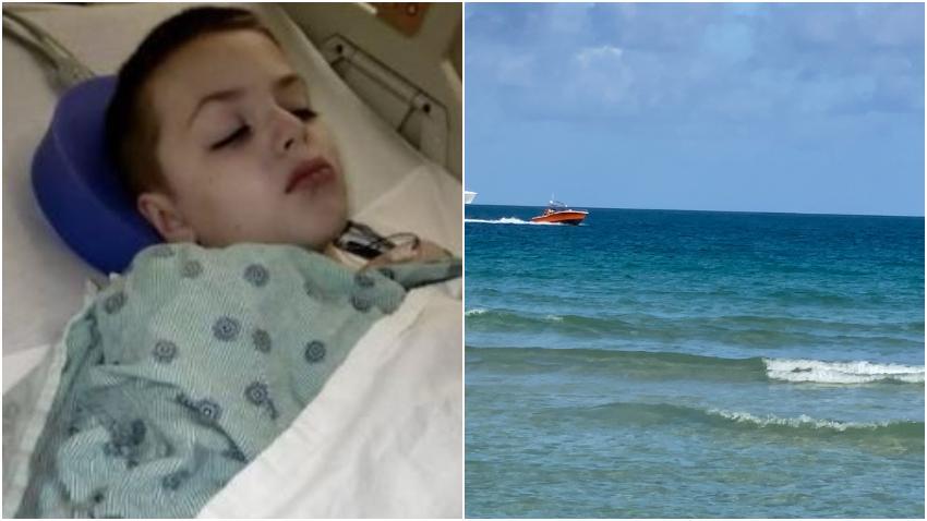 Niño de 9 años que fue atacado por un tiburón en Miami Beach sale del hospital y habla sobre lo sucedido