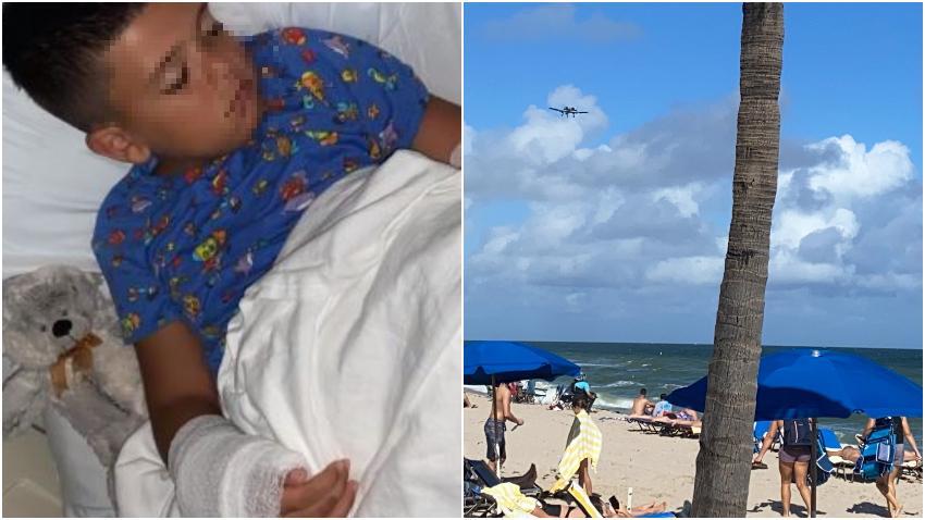 Tiburón muerde a un niño de 7 años en la playa en Fort Lauderdale