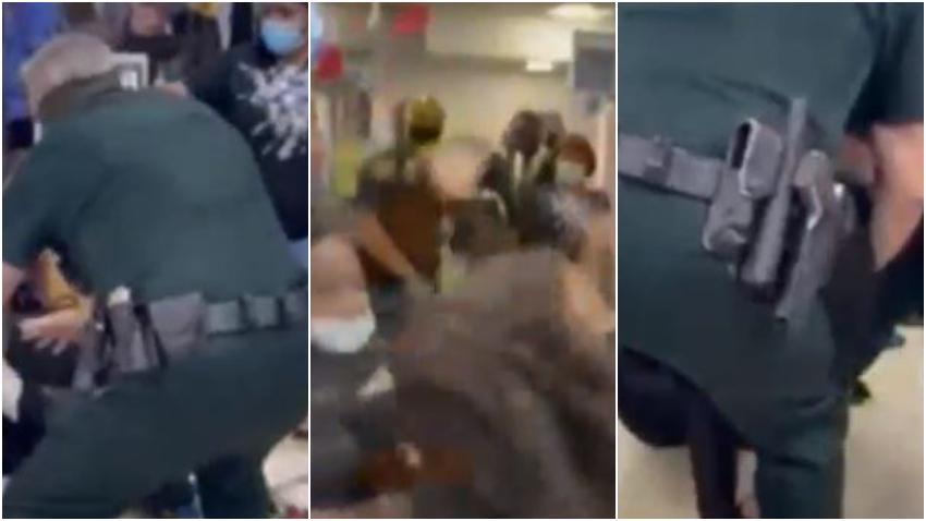 Captado en cámara como 2 mujeres se pelean en el aeropuerto de Fort Lauderdale tras una discusión por el uso de la máscara