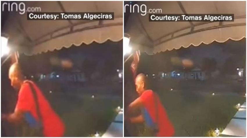En cámara un hombre roba un buzón de correo de una casa en Coral Gables