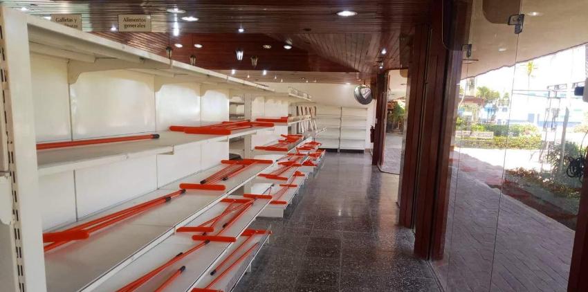 Vergonzoso: Vacío el supermercado de la Marina Hemingway en La Habana, solo venden palos de trapear