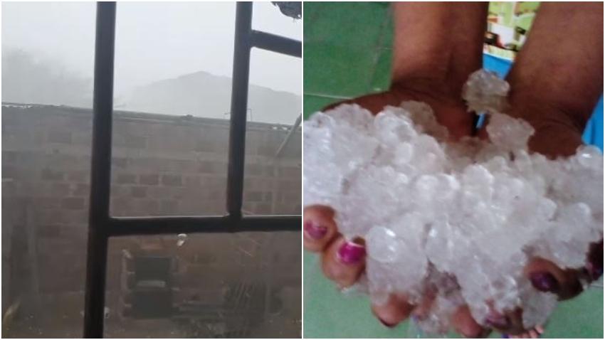 Severa tormenta de granizo azota a Camagüey