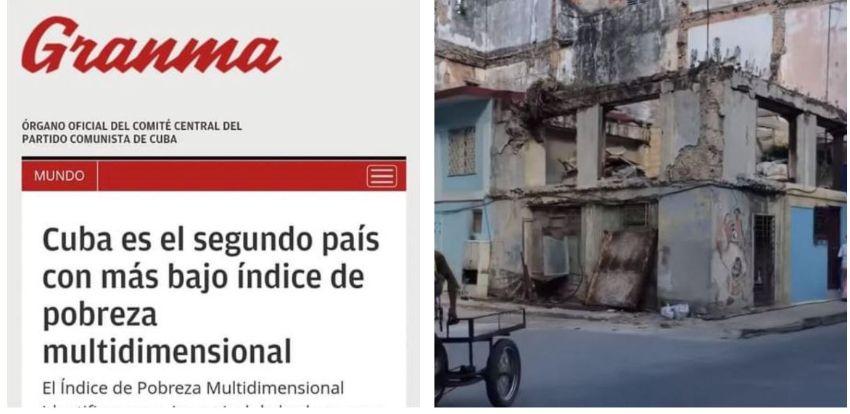 """Granma afirma que """"Cuba es el segundo país con más bajo índice de pobreza multidimensional"""" y las redes estallan"""