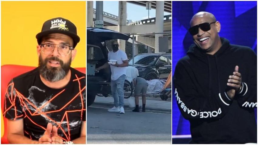 Presentador cubano Alex Otaola califica de montaje el video de Alexander de Gente de Zona repartiendo comida a las personas sin hogar en Miami
