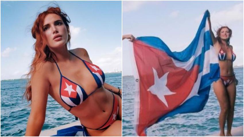 Actriz cubanoamericana Bella Thorne saca su lado más cubano