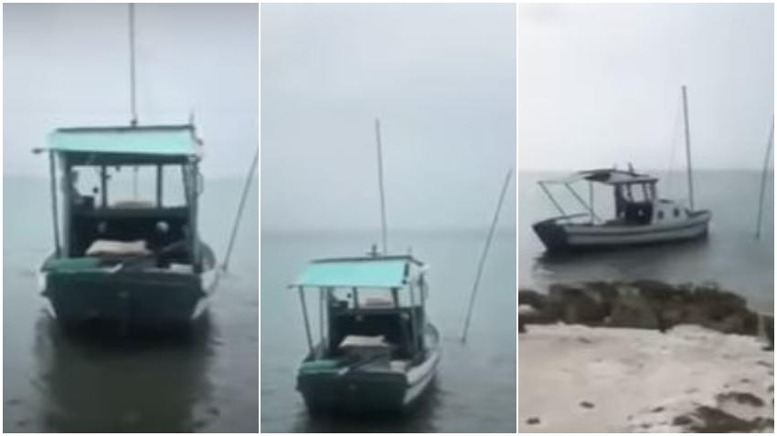 Bote rústico usado por balseros cubanos es encontrado abandonado cerca de los Cayos de la Florida