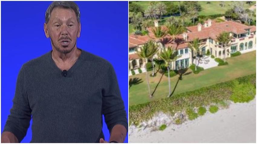 multimillonario tecnológico Larry Ellison compra casa en Florida por 80 millones de dólares y la derrumbará