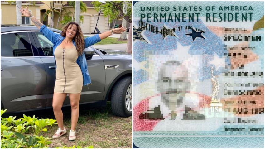 Humorista cubana Cuquita la Mora feliz tras obtener la residencia permanente en Estados Unidos para ella y su hija
