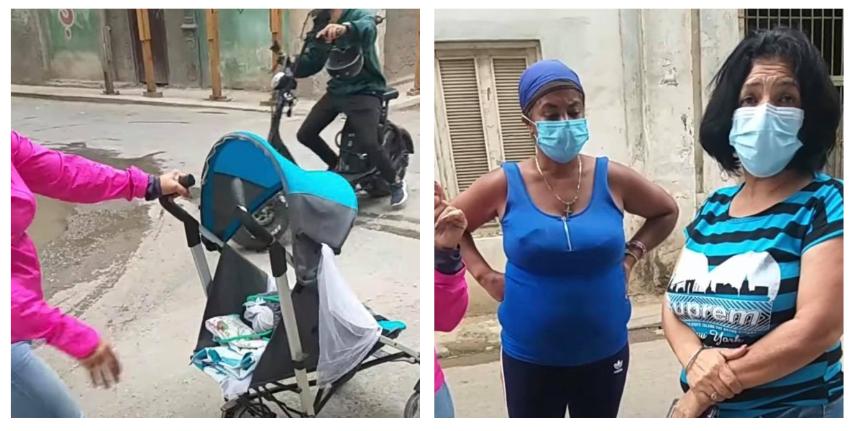 Desalojan forzosamente a tres madres cubanas y a cuatro niños de un local abandonado en la Habana Vieja